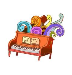 A piano lesson vector image