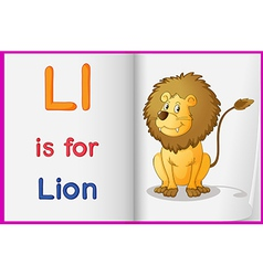 A picture of lion in book vector