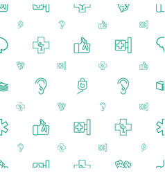 Aid icons pattern seamless white background vector