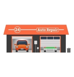 Auto repair garage concept vector image