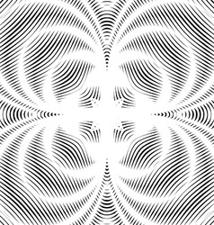 background with black chaotic lines moire style vector image