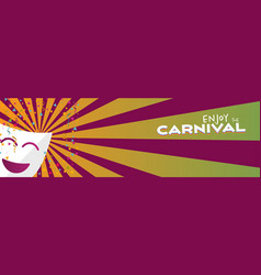 Banner enjoy carnival mask and stars vector