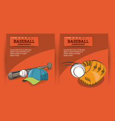 baseball game championship vector image
