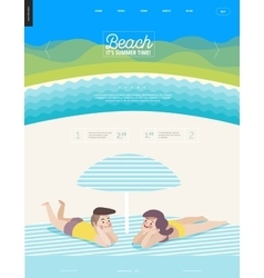 Beach web template vector image