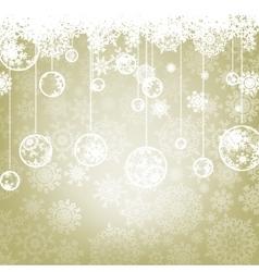 Beautiful elegant happy Christmas card EPS 8 vector image
