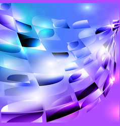 blue purple turquoise black spiral rounded mosaic vector image