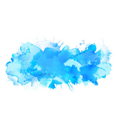 Blue watercolor big blot spread to the light vector