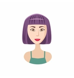 Bob haircut icon cartoon style vector image