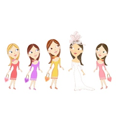 Bridesmaids vector