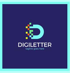Business corporate letter d logo design digital vector