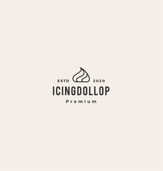cake icing dollop logo icon hipster vintage retro vector image