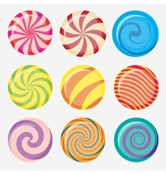 Candies lollipop vector