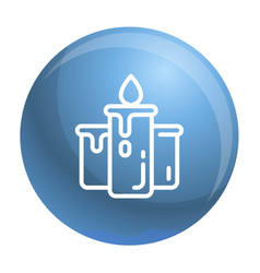 candle icon outline style vector image