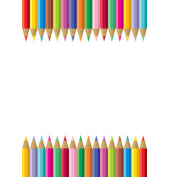 colorful pencil frame vector image