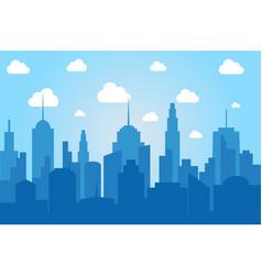 Comic cityscape light background vector