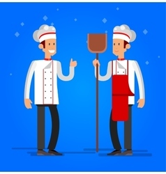 Cook baker cooking bread icon bakery background vector