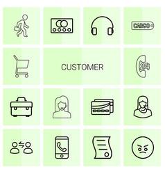 customer icons vector image
