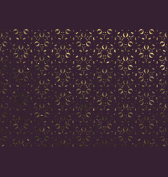 dark background with gold floral ornament vector image