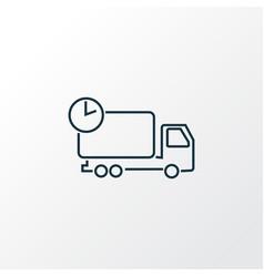 delivery icon line symbol premium quality vector image