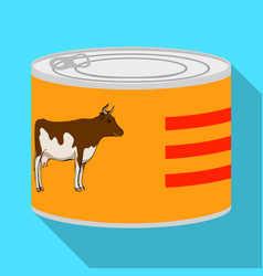 Design of can and food logo set of can and vector