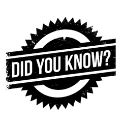 Did you know stamp vector
