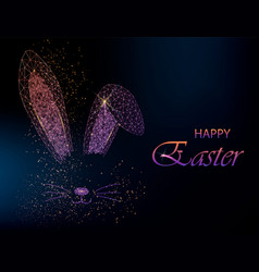 easter bunny ears silhouette vector image