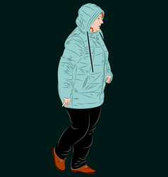 female dressed in winter clothes vector image