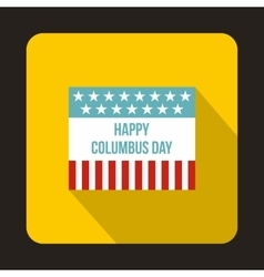 Flag for Columbus Day icon flat style vector image
