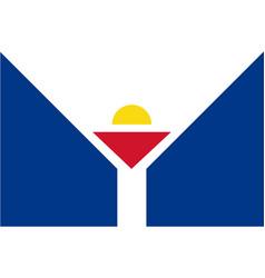 flag of saint martin france vector image