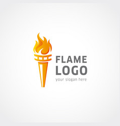 flame logo sport vector image