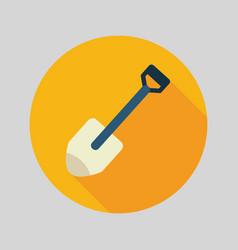 gardening shovel flat icon vector image