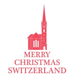 Greeting Card Switzerland vector image