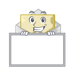 Grinning with board opened and closed envelopes vector