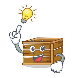 Have an idea crate mascot cartoon style vector