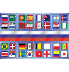 information graph of the flags of the country vector image