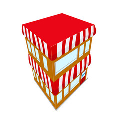 isolated isometric store building icon vector image