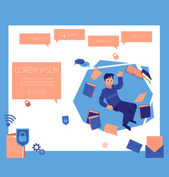 Man and information concept vector