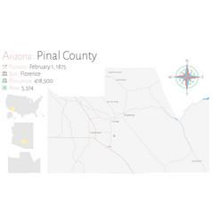 Map pinal county in arizona vector