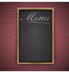 Menu chalkboard on white background vector image