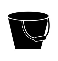 Metal bucket isolated icon vector