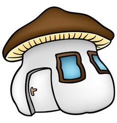 mushroom house vector image