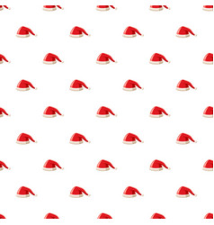New year red santa claus hat pattern vector