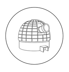 observatory icon in outline style isolated on vector image