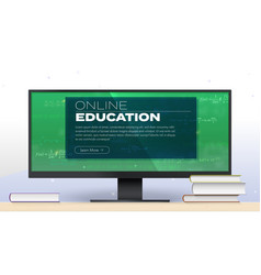 online education e-learning computer monitor vector image