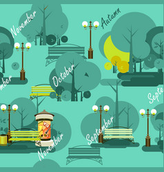 park seamless pattern vector image