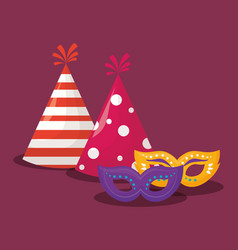 party hats design vector image