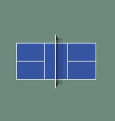 pickleball field top view vector image