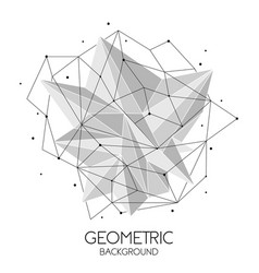 polygonal abstract futuristic template low poly vector image