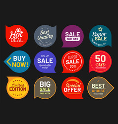 sale quality badges quality stamp sticker badge vector image