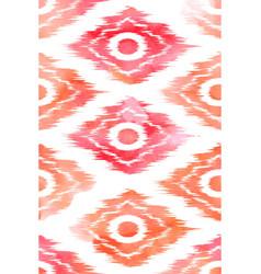 seamless ikat textile pattern vector image